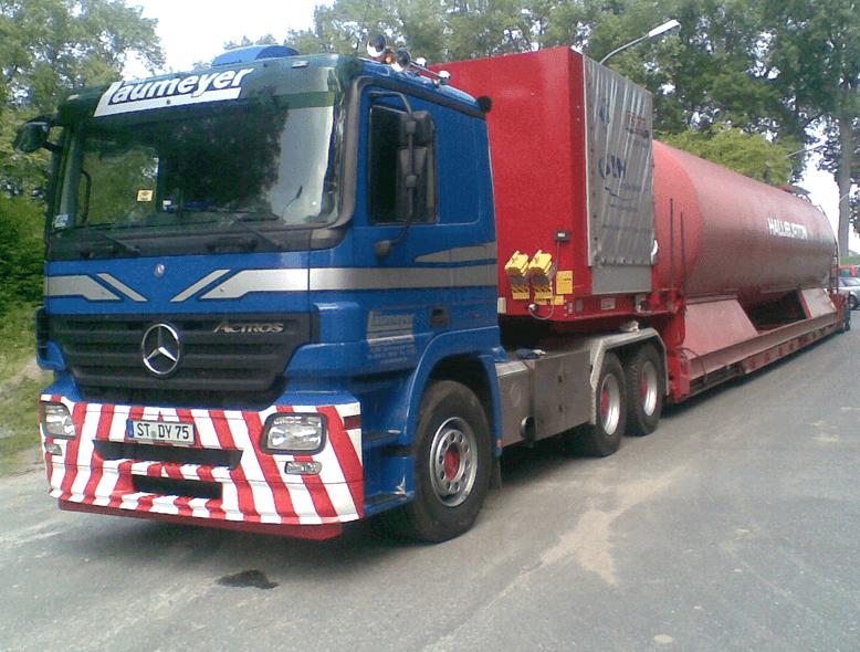 Tiefbett-Auflieger / Laumeyer Transporte